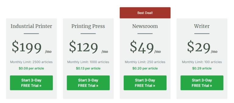 Kafkai Pricing Website Content Writer
