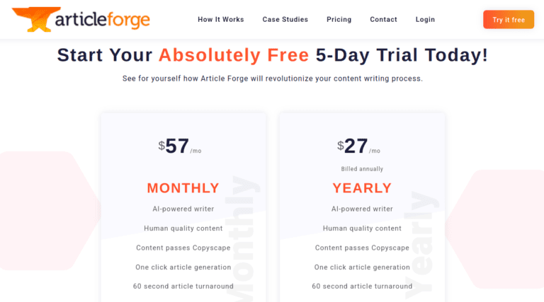 Article Forge a Website Content Writers
