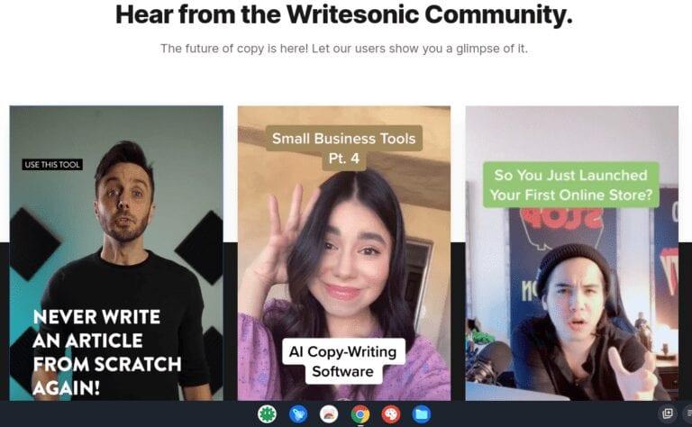Writesonic Community- Website Content Writer